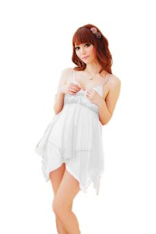 Váy ngủ tiên cá Huy Kiệt V071 (Trắng)