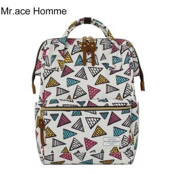 Balo Thời Trang Mr.ace Homme MR16B0333B01 / Trắng phối họa tiết