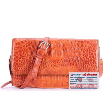 HL6230 - Túi xách nữ da cá sấu đeo chéo màu vàng
