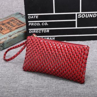 Linemart Limemart New Fashion Women's Long Wallet Button Clutch Purse Long Handbag ( Watermelon Red ) ( Red ) - intl