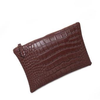 Fashion Women Envelope Handbag Large Tote Ladies Purse Brown Free shipping - intl