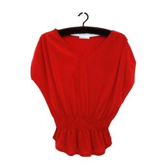 Áo kiểu nữ trung niên Ugether UPAR17 (Đỏ)