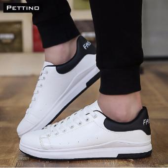 giày nam da PU hot 2017 - Pettino GV10 (trắng đen)