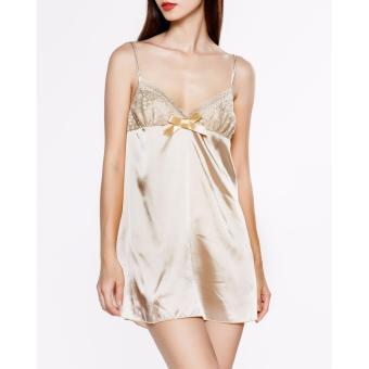 Đầm ngủ Sexy nữ A804FVK (Vàng kem)