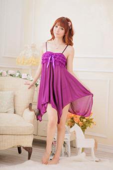 Váy ngủ cánh hồng Huy Kiệt TT21 (Tím)
