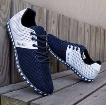 New England Men's Breathable Recreational Shoes Casual Lace up Mesh Sport shoes - intl
