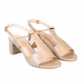 Giày Sandal nữ gót vuông cao 5cm HC1307 (Cafe sữa)