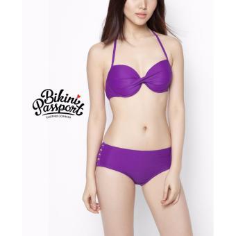 Bikini quần đan dây - Tím