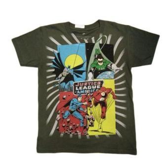 Áo thun tay ngắn thời trang DC Comics bé trai ( Xanh Rêu )