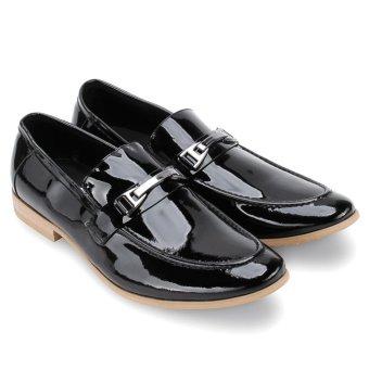 Giày tây nam da bò thật MB602 (Đen)