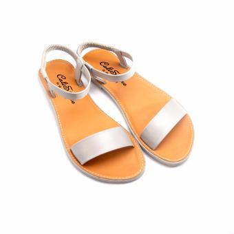 Giày xăng đan quai họa tiết GD47 (Nâu Xám)