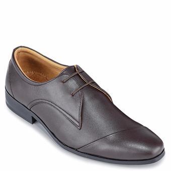 Giày Tây Nam Da Bò SunPoLo (Nâu nhạt)