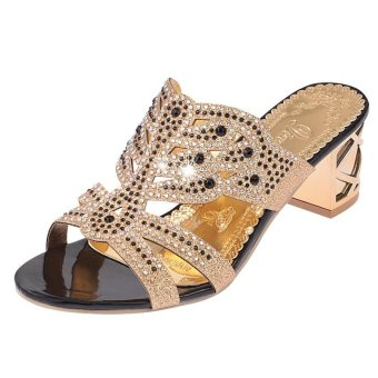 Bohemia Fashion Women's Sexy Beach Dating Shoes Sandals Luxurious Sequins Sandals - intl
