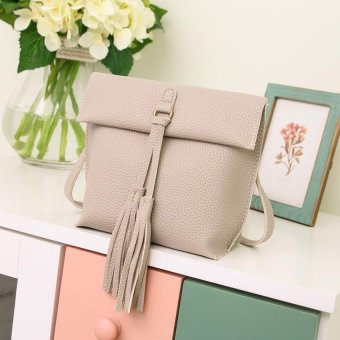Tassel PU Messenger Bag Handbags Shoulder Bag Clutch - intl