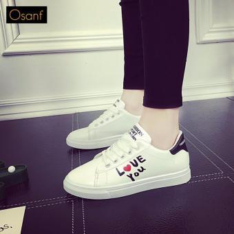 Giày Sneaker Love Thời Trang OSANT - SN004 (Đen)