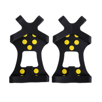 10-STUD UNIVERSAL ICE NO SLIP SNOW SHOE SPIKES GRIPS CLEATS CRAMPONS (M) (Intl)