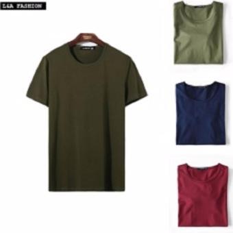 Bộ 3 áo thun nam body cổ tròn ( đỏ đô, xanh rêu, xanh đen )
