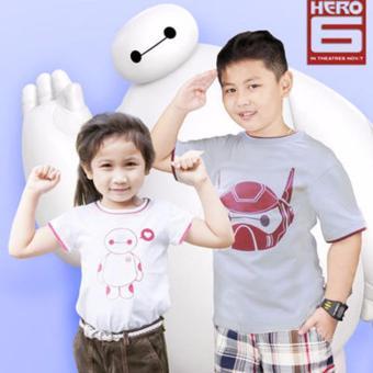 Áo Thun Bé Trai In Big Hero Genii Kids (Trắng)
