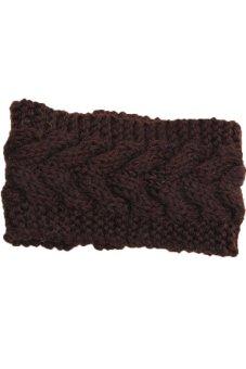 Lalang Knitting Needle Hairband Coffee