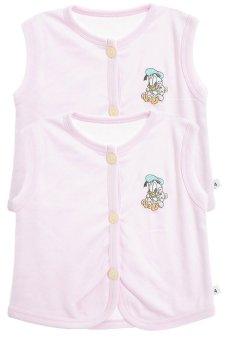 Bộ 2 áo khỉ thêu trẻ em Nanio A0004-Hh (Hồng)