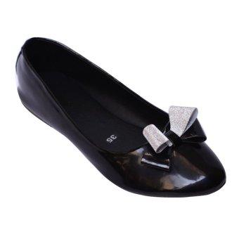 Giày búp bê nơ MeGirl 92192 (Đen)