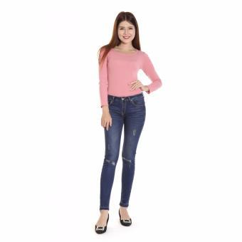 Quần Jeans Thun Cotton 07m Nữ Cotonfield
