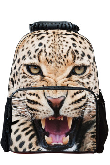 Unisex Adult Teenager 3D Animal Style Multi-purpose Schoolbag Outdoor Travel School Bag Backpack Tablet Laptop Carry Bags Tiger