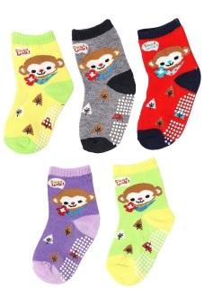 Bộ 5 đôi tất vớ trẻ em từ 5-8 tuổi bé trai SoYoung 5SOCKS 003 5T8 BOY