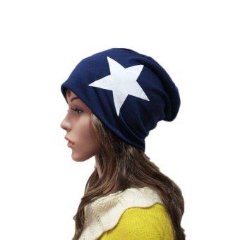 Unisex Five-Star Print Cotton Beanie Ski Caps Hedging Hats - Intl