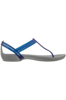 Giày xăng đan nữ Crocs Isabella T-strap Cerulean Blue 202467-4O5 (Xám)