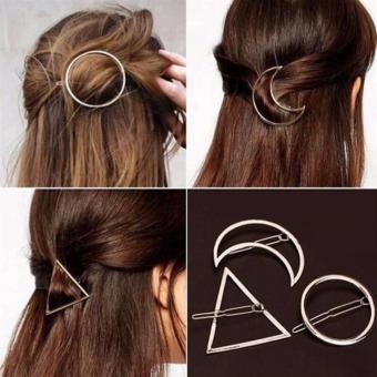 Kẹp tóc Hợp kim mạ vàng Hàn Quốc Cao cấp, sang trọng cho các bạn nữ (Hình tam giác)