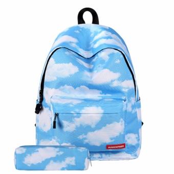 Ba lô đi học nữ hình mây Tâm Bình M199 (Tặng ví)