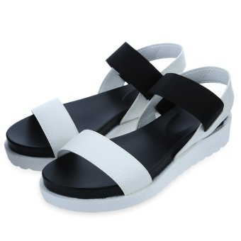 Simple Design Open Toe Platform Sandals for Ladies(WHITE) - intl
