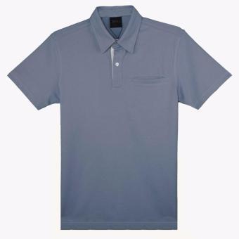 Áo thun polo Milvus màu xanh nhạt