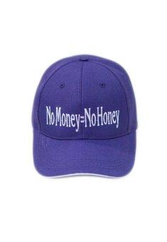 Nón Lưỡi trai vải trơn với logo No Money - No Honey Juliecaps (Tím)