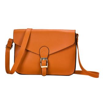 Women Imitation leather Shoulder Bag Satchel Handbag Retro Messenger Yellow