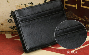 FLAMA Block Resilient Wallet Money Clip for Unisex Horizontal(Black) - intl