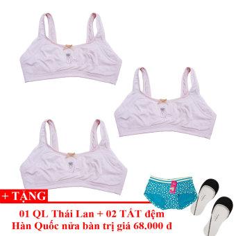 Bộ 3 Áo Ngực Bé Gái Lybi Shop + Tặng 01 Quần Lót Teen Và 02 Đôi Tất Đệm Chân