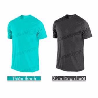 Bộ 2 áo thun LAKA A1315 (Xanh Ngọc + Xám)
