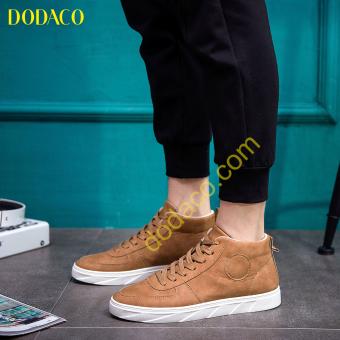 Giày Bốt Nam Cổ Ngắn Thời Trang DODACO DDC3022 (Nâu)