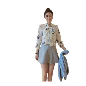 Áo kiểu họa tiết hoa duyên dáng TIGON BY6048