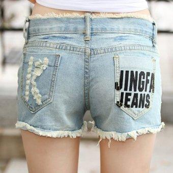 Quần Short Jean rách túi chữ K 129