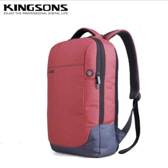 Kingsons 15.6 Inches Laptop Backpack Anti-theft Nylon School Bag Notebook Computer School Satchel Travel Trip Backpacks Rucksack (Pink) - intl
