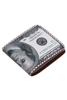 LALANG Men PU Wallet Multifunction Printed Purse 15 Dollar - intl