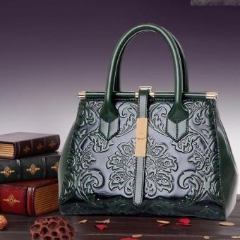 Túi mẫu kết hợp giữa cổ và hiện tại siêu quý phái-139_màu xanh riêu