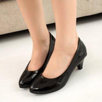 Giày búp bê nữ có gót đáng yêu - 169 (Đen)