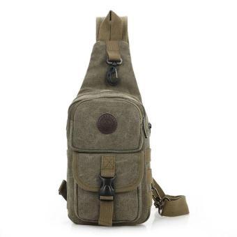 Túi đeo chéo, balo nam chuyên phượt DC02 (Xanh rêu)