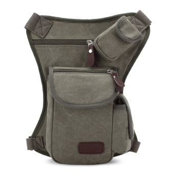 New Fashion Men's leg bags(Grey) - intl