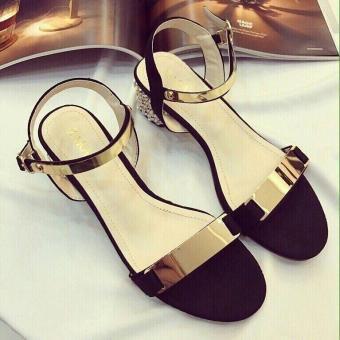 Sandal gót gắn đá 3p