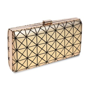 Linemart Limemart New Clutch Casual Women's Handbag Lady Party Crystal Evening Bags ( Gold ) ( Gold ) - intl